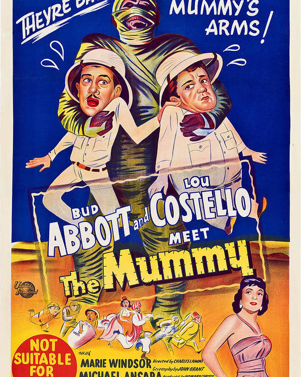 1950s Poster Art Poster featuring the photograph Abbott And Costello Meet The Mummy by Everett