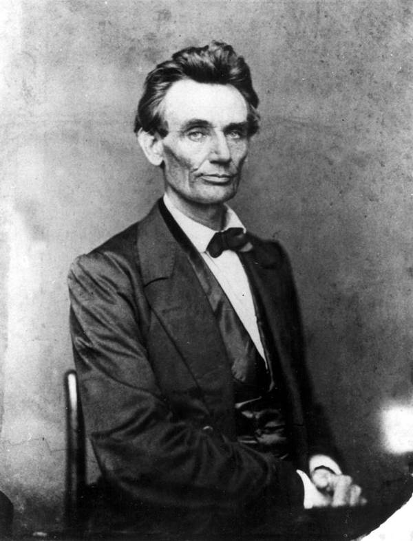 1800s Poster featuring the photograph Abraham Lincoln 1860portrait By B by Everett