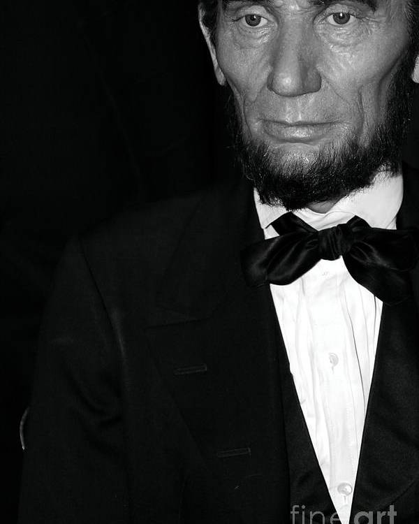 Abraham Lincoln Poster featuring the photograph Abraham Lincoln by Sophie Vigneault