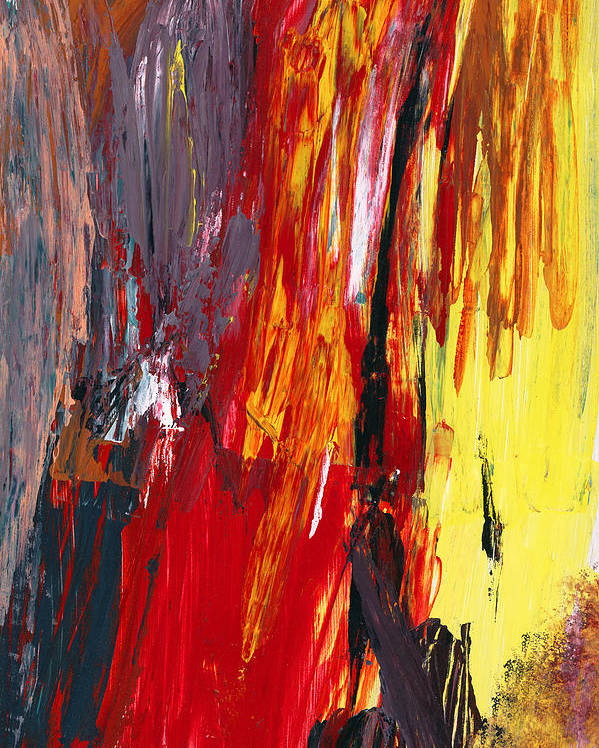 Abstract Poster featuring the photograph Abstract - Acrylic - Rising Power by Mike Savad