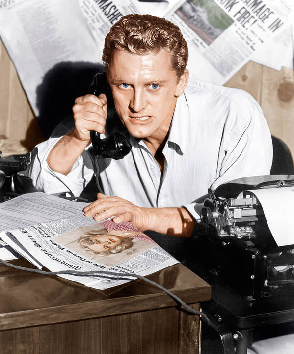 1950s Portraits Poster featuring the photograph Ace In The Hole, Kirk Douglas, 1951 by Everett