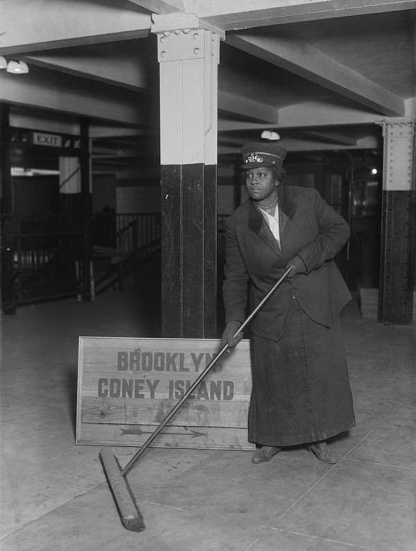 History Poster featuring the photograph African American Woman Porter by Everett