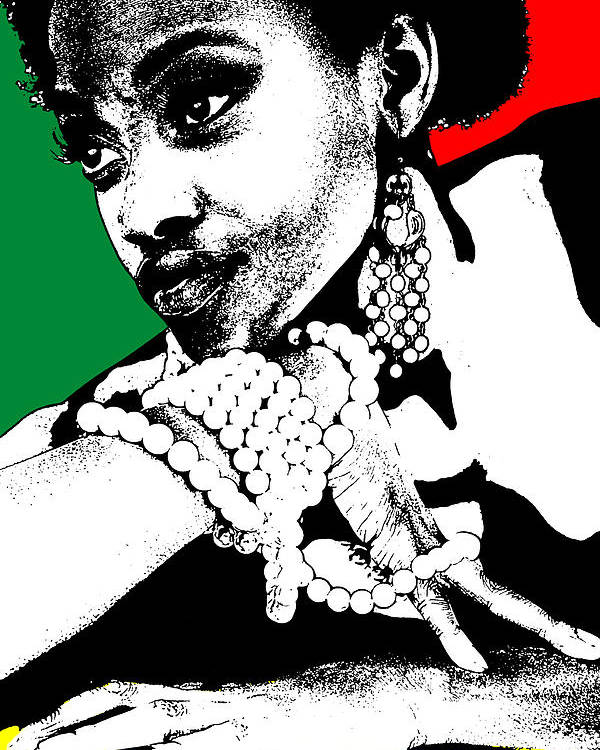 African Poster featuring the photograph Aisha Jamaica by Naxart Studio