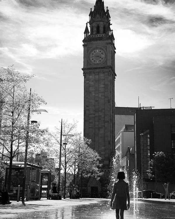 Belfast Poster featuring the photograph Albert Clock Belfast by George Pennock
