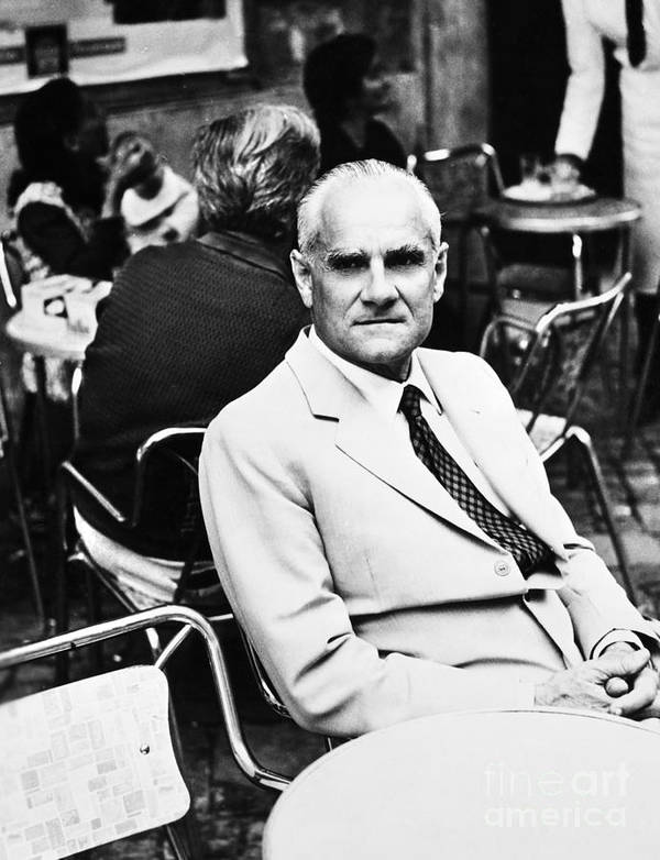 20th Century Poster featuring the photograph Alberto Moravia (1907-1990) by Granger