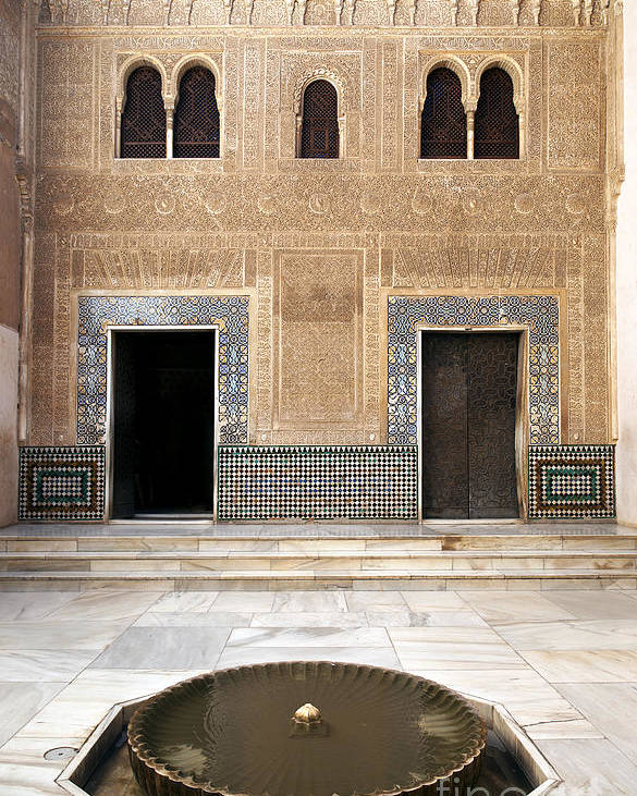 Alhambra Poster featuring the photograph Alhambra Inner Courtyard by Jane Rix
