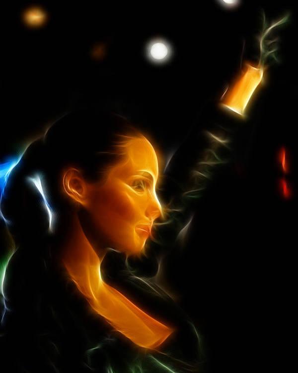 Lee Dos Santos Poster featuring the photograph Alicia Keys - Singer by Lee Dos Santos