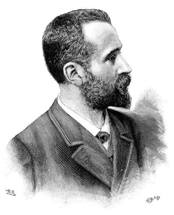 Alphonse Bertillon Poster featuring the photograph Alphonse Bertillon, French Police Officer by