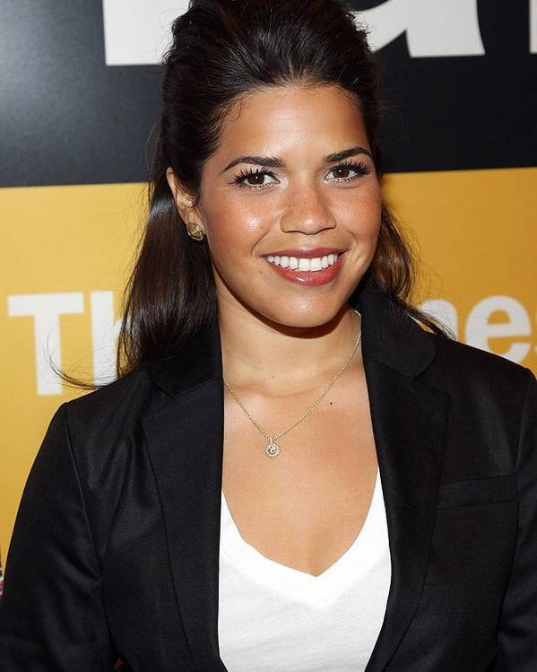 America Ferrera Poster featuring the photograph America Ferrera At A Public Appearance by Everett