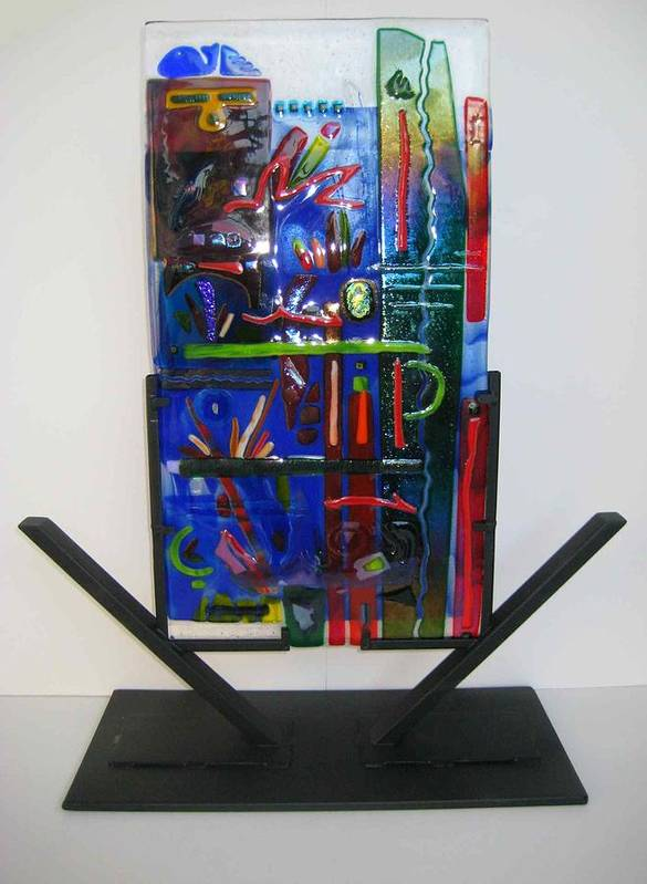 Fused Poster featuring the sculpture American Graffiti by Mark Lubich