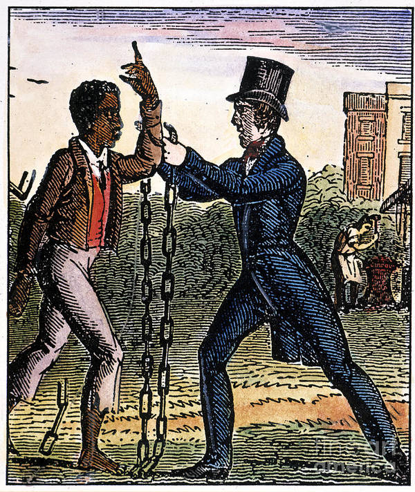 1840 Poster featuring the photograph An Abolitionist by Granger