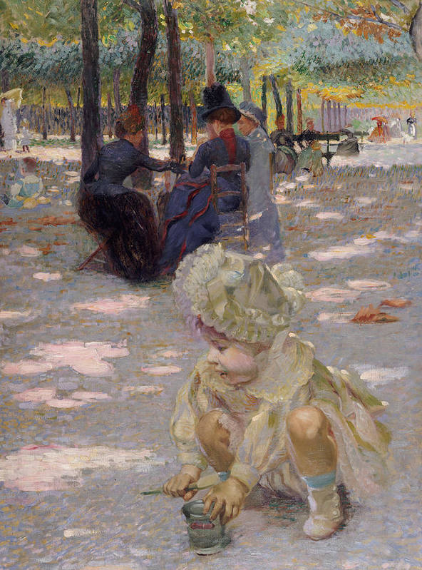 An August Afternoon At The Luxembourg Poster featuring the painting An August Afternoon At The Luxembourg by Henri-edmond Cross
