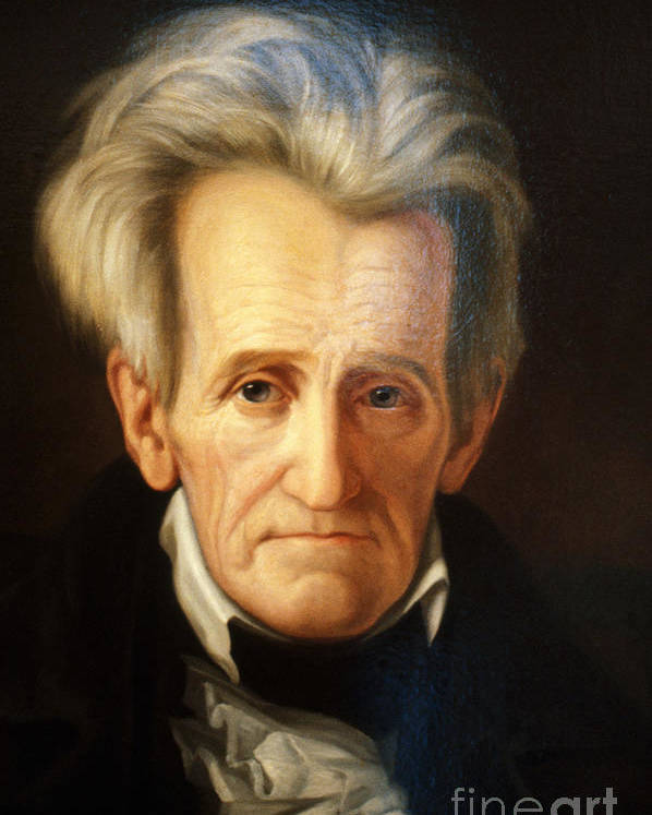 History Poster featuring the photograph Andrew Jackson, 7th American President by Photo Researchers