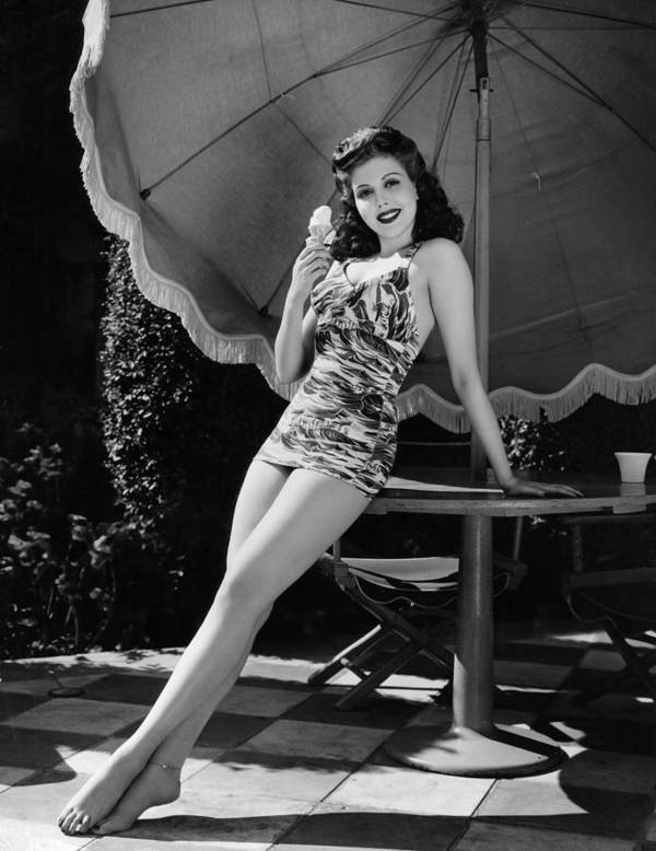 11x14lg Poster featuring the photograph Ann Miller Eating Ice Cream, Ca. 1941 by Everett