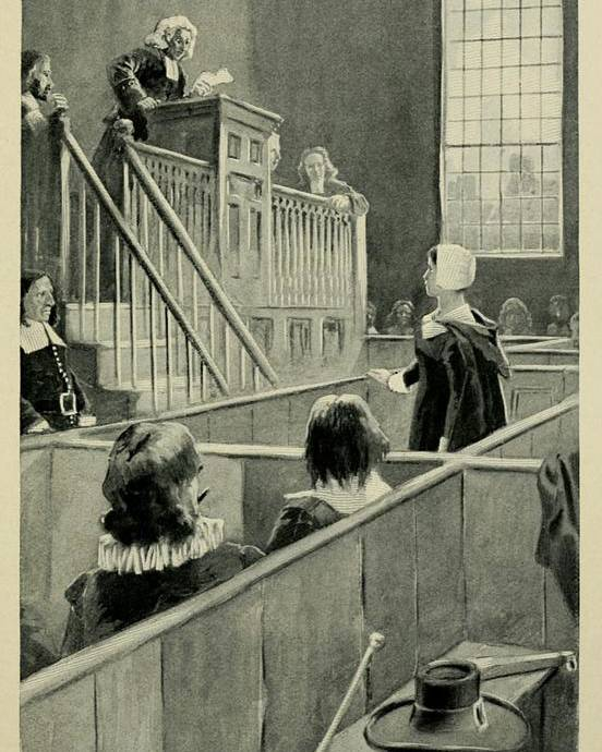 History Poster featuring the photograph Anne Hutchinson, Charged With Heresy by Everett