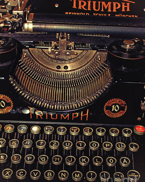 Photo Poster featuring the photograph Antiquated Typewriter by Jutta Maria Pusl