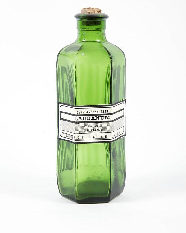 Bottle Poster featuring the photograph Antique Laudanum Bottle by Gregory Davies, Medinet Photographics