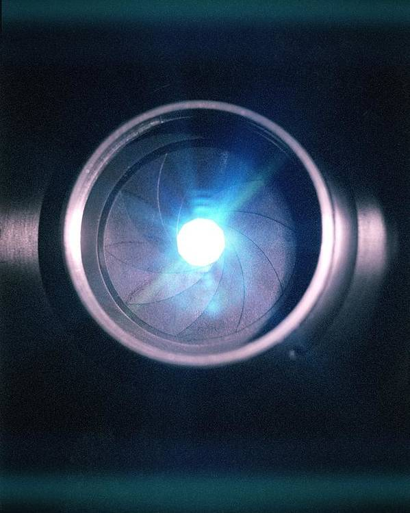 Lens Poster featuring the photograph Aperture Flare by Richard Kail