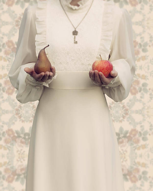 Woman Poster featuring the photograph Apple And Pear by Joana Kruse