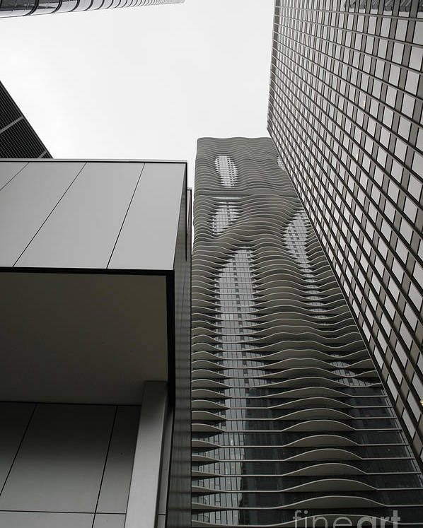 Chicago Illinois Poster featuring the photograph Aqua In The Neighborhood by David Bearden