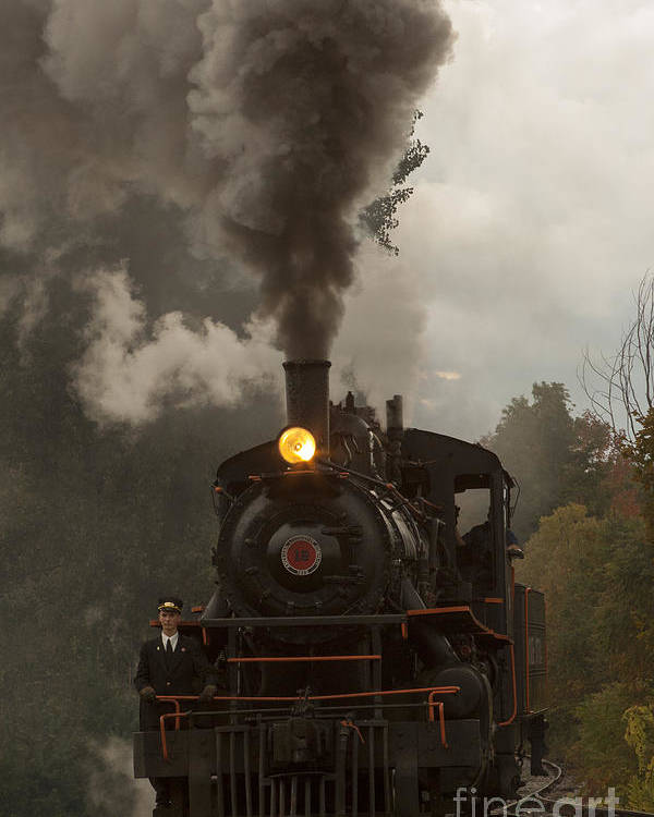 Train Poster featuring the photograph Arcade Steam Engine by Darleen Stry