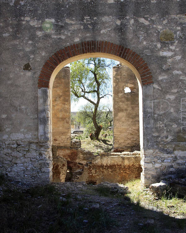Archway Poster featuring the photograph Archway At Pozos by Bryan Davies
