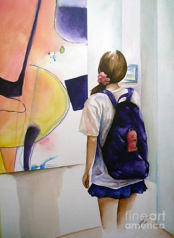 Art Poster featuring the painting Art Student by Elizabeth York