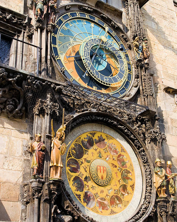 Architecture Poster featuring the photograph Astronomical Clock In Prague by Artur Bogacki