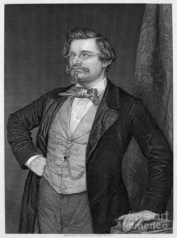 19th Century Poster featuring the photograph August Wilhelm Von Hofmann by Granger