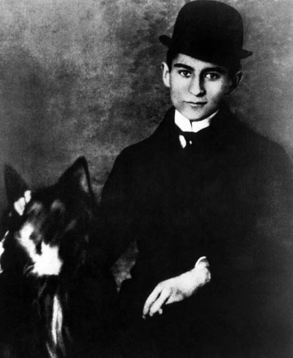 1910s Poster featuring the photograph Author Franz Kafka, Ca. 1910s by Everett