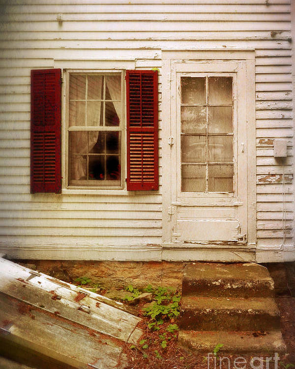 Back Poster featuring the photograph Back Door Of Old Farmhouse by Jill Battaglia