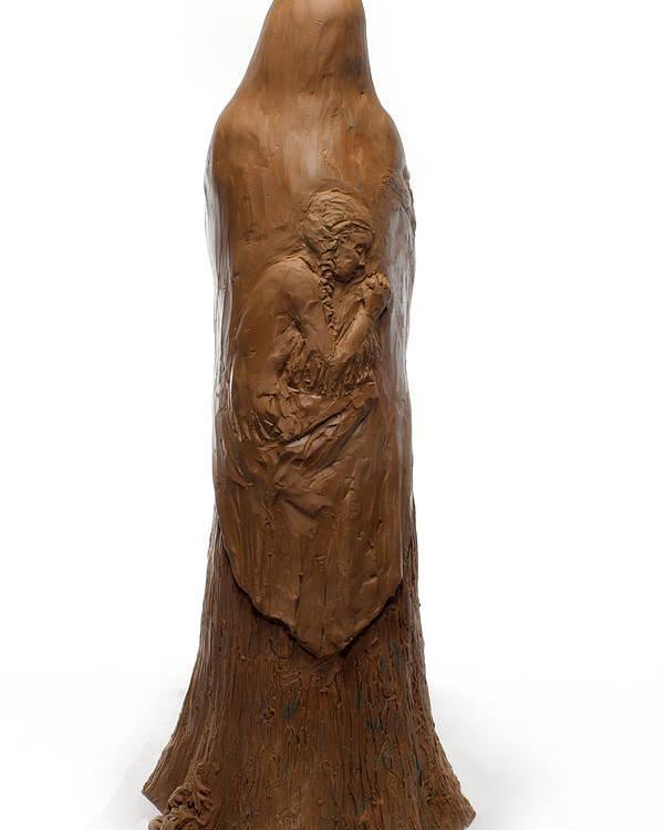 Saint Poster featuring the sculpture Back View Of Saint Rose Philippine Duchesne Sculpture by Adam Long