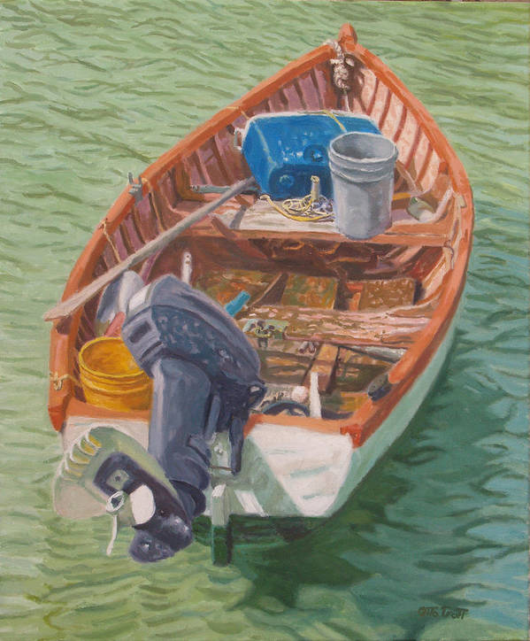 Bermuda Poster featuring the painting Bailey's Bay Fishing Dinghy by Otto Trott