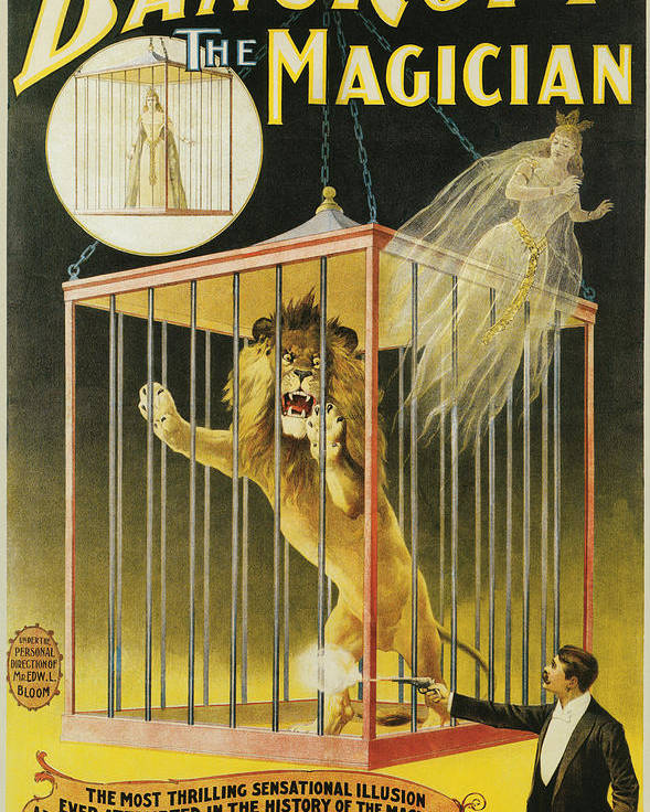 Bancroft The Magician Poster featuring the painting Bancroft The Magician by Unknown