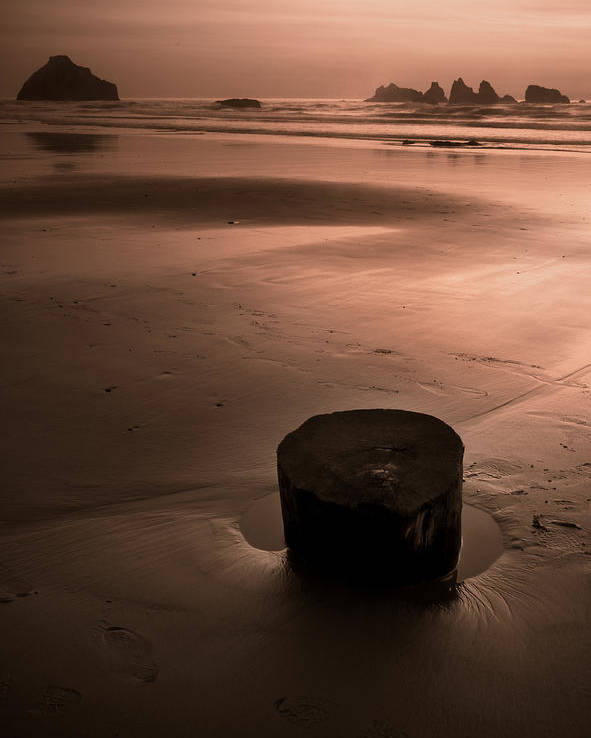 Sunset Poster featuring the photograph Bandon Sunset. by Kim Price