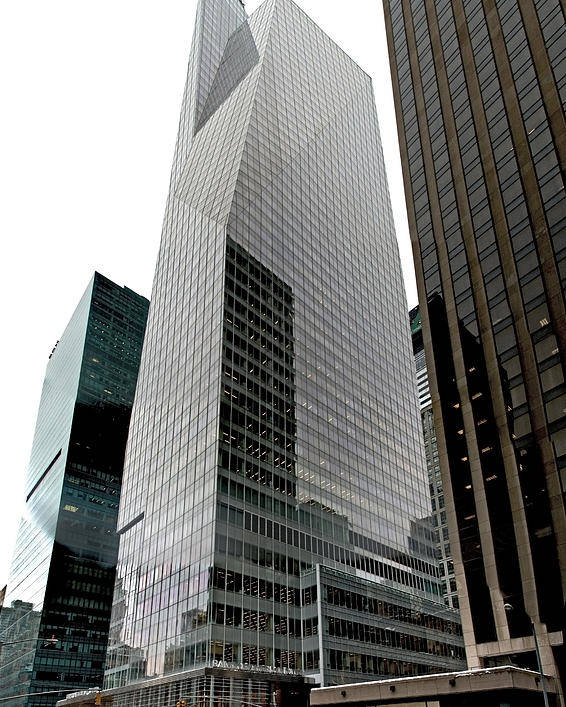 Nyc Poster featuring the photograph Bank Of America by S Paul Sahm