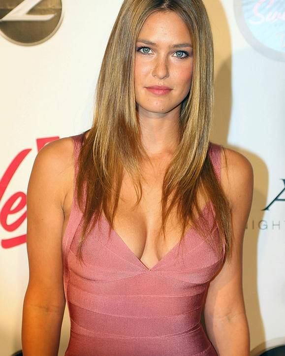 Sports Illustrated 2009 Swimsuit Issue Party Poster featuring the photograph Bar Refaeli Wearing A Herve Leged Dress by Everett