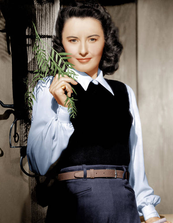 1940s Portraits Poster featuring the photograph Barbara Stanwyck, Ca. 1947 by Everett