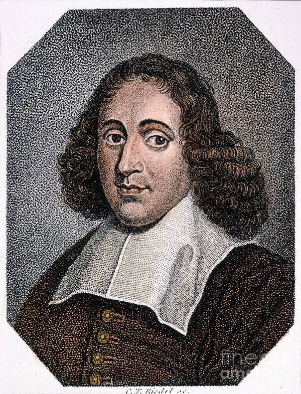 Baruch Poster featuring the photograph Baruch Spinoza (1632-1677) by Granger