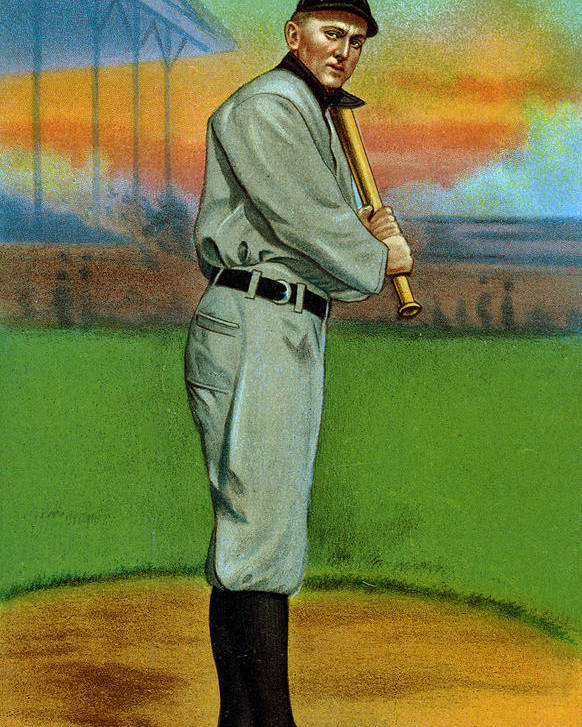 1910s Poster featuring the photograph Baseball. Ty Cobb Baseball Card by Everett