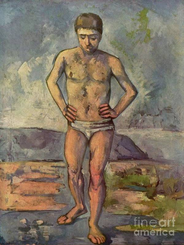Cezanne Poster featuring the painting Bather by Extrospection Art