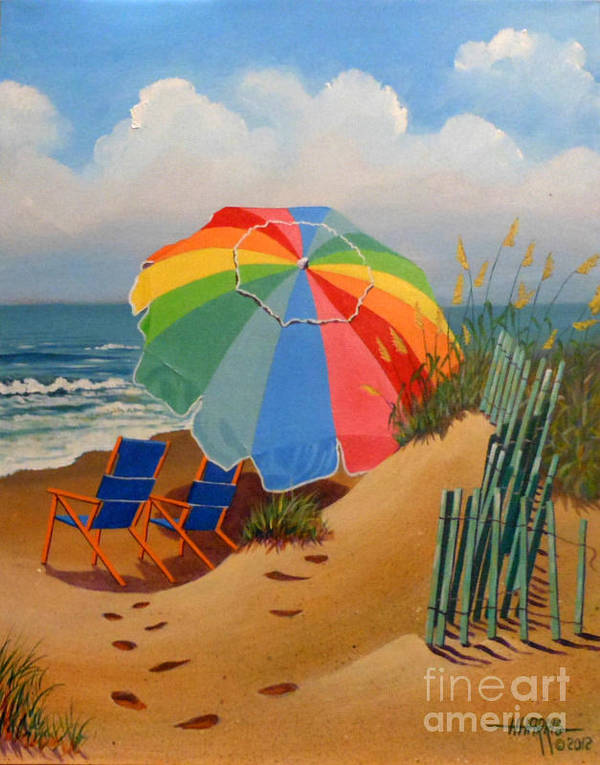 Seascape Poster featuring the painting Beach Delight by Hugh Harris