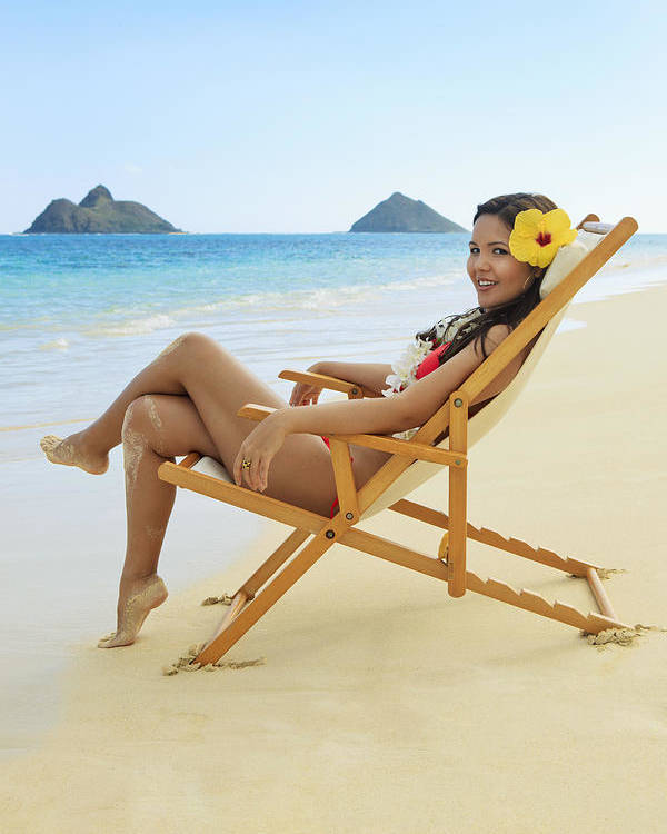 Attractive Poster featuring the photograph Beach Lounger by Tomas del Amo