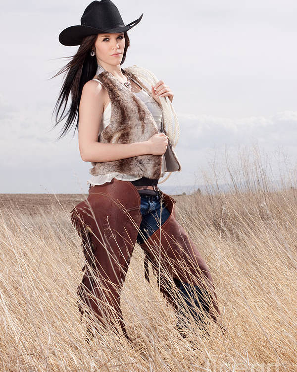 Woman Poster featuring the photograph Beautiful Cowgirl by Cindy Singleton