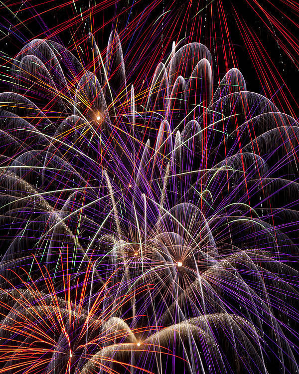 Fireworks 4th Of July Poster featuring the photograph Beautiful Fireworks by Garry Gay