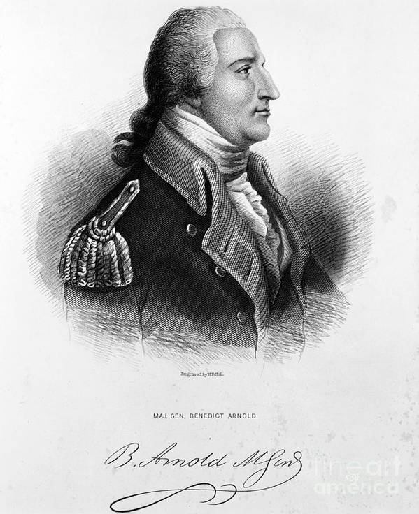 Engraving Poster featuring the photograph Benedict Arnold, American Traitor by Omikron