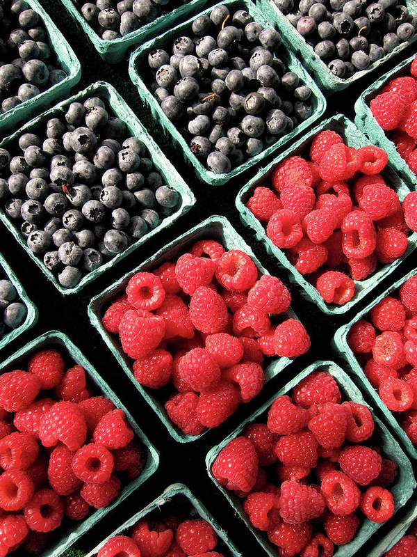 Vertical Poster featuring the photograph Berry Baskets by Denise Taylor