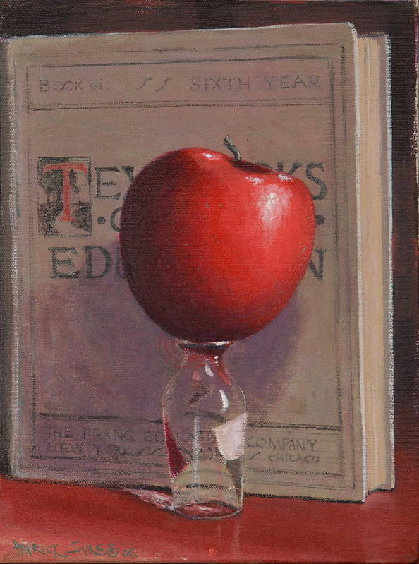 Apple Poster featuring the painting Best Medicine by Patrick Sims