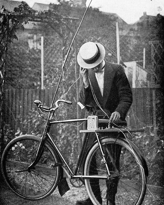 Equipment Poster featuring the photograph Bicycle Radio Antenna, 1914 by