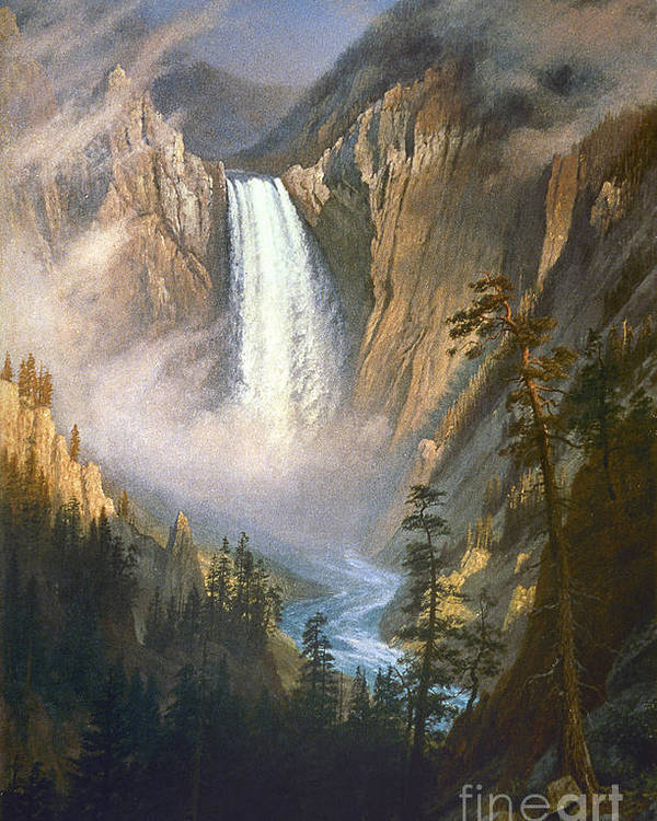 1881 Poster featuring the photograph Bierstadt: Yellowstone by Granger